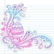 Easter Egg Spring Flowers Sketchy Doodles