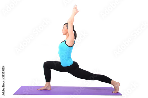 Young girl doing stretching exercise