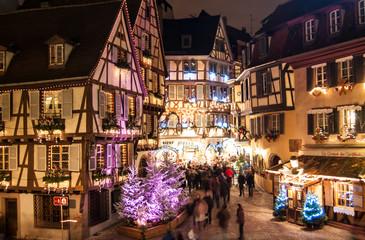 Le marché de Noël à Colmar en Alsace