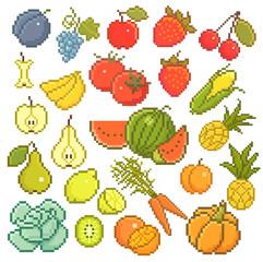 8 bit fruits.