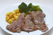 Saltimbocca alla romana with Gnocchi and Broccoli