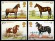 British Horse Postage Stamps