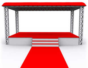 3D rendered Isolated empty Stage