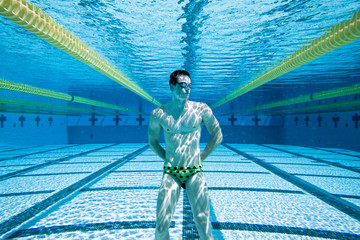 Swimmer in Pool UnderWater
