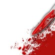 Crime Concept Bloody Knife and Blood Splatter