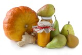 pears,ginger roots and hugh pumpkin for tasty jam poster