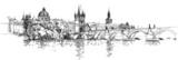 Panorama of Prague. View of Charles Bridge and the Vltava river - 38364957