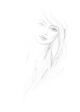 Dafne / Detail vector sketch of mythological beautiful woman poster