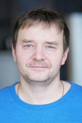 Closeup portrait of courageous middle age man