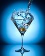 Splash martini from flying olives.