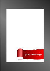 Pagina con strappo e sfondo rosso