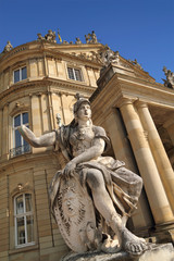 Athena statue at New Palace, in Stuttgart Germany