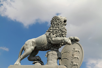 Lion statue at the New Palace, in Stuttgart Germany