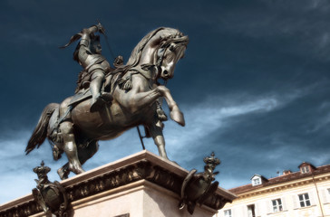 Torino -Monumento a Emanuele Filiberto