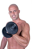bodybuilder dumbbell