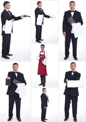 Collage of hospitality workers