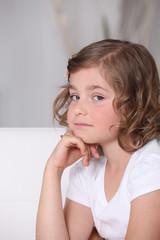 Serious young girl