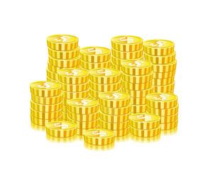 Huge Heap Of Gold Coins