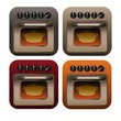 Cooking Oven Icon Set