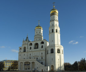 Archangel Cathedral and Ivan the Great Bell in the Moscow Kremli