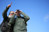 Couple with binoculars