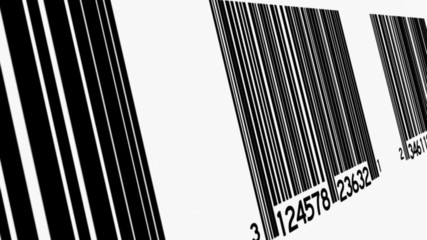 Bar Codes At Angle Background Loop