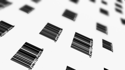 Bar Codes Depth Of Field Animated Background Loop