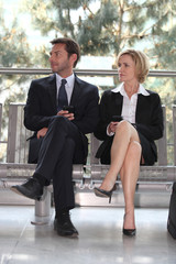 Businesspeople in a waiting room