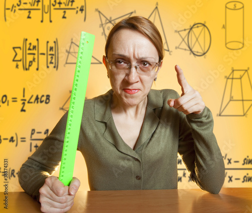 Crazy female teacher