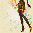 Woman`s slim legs