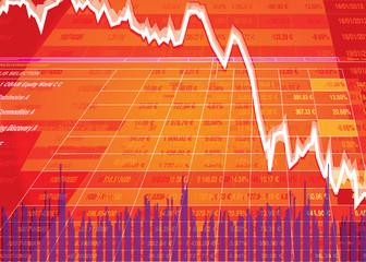 le krach boursier - la plongée des places boursières