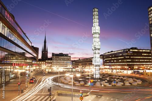 Staande foto Scandinavië Stockholm City Center, Sergels Torg