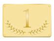 Plaque laurée en or pour le premier