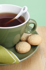 Tea and cookies close-up
