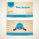 Fototapety Vector old-style retro vintage business card