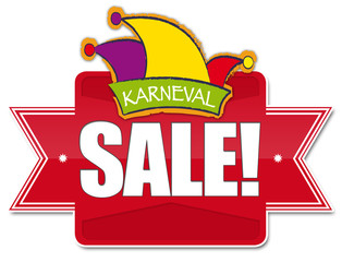 Karneval SALE! Button, Icon