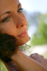 Closeup of a woman
