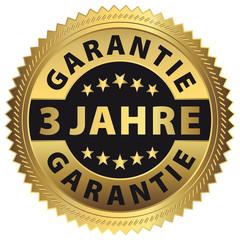 3 Jahre Garantie - Qualitätsversprechen Gold