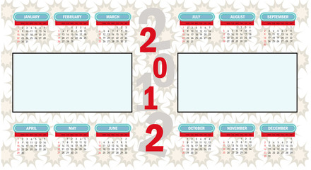 2012 vector calendar. (picture and to add notes.)