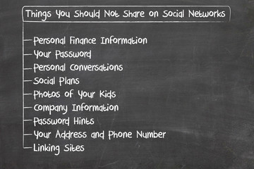 what you should not share on social media