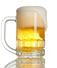 full beer mug isolated