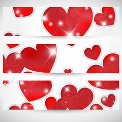 Banners con cuori - Hearts banners