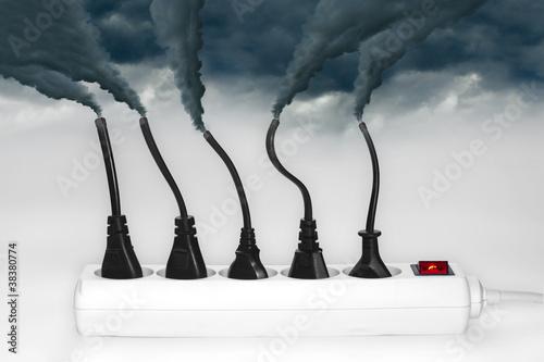 Prise electrique - Pollution