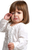 Fototapety Unhappy little girl crying