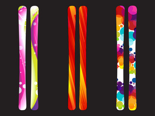 abstract colorful snow board design template