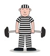 Prisoner exercising