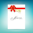 Happy card with gold and Red ribbon vector illustration