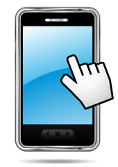 Touchscreen smartphone.