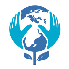 world hands nature logo
