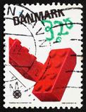 Postage stamp Denmark 1989 Lego Blocks poster
